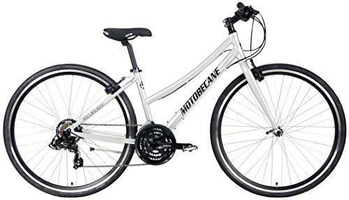 - Motobecane 2018 Cafe 21 Speed Shimano Equipped Hybrid Aluminum Bicycle (Silver, 15.5