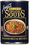 Amy's Hearty Organic Soups, Spanish Rice & Red Bean, 14.7 Ounce (Pack of 12)