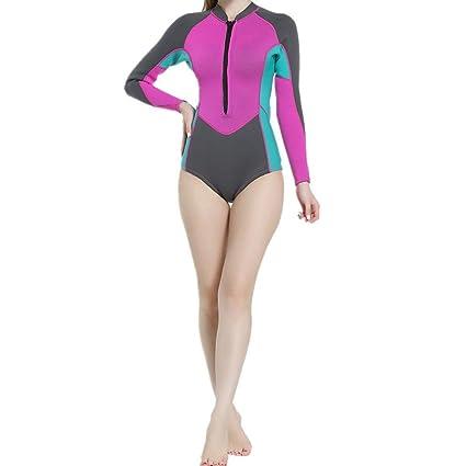 9b89807d6b01 MAODATOU Neoprene Women's Wetsuit Women's Long Sleeve Wetsuit Swimsuit Top  for Surfing, Snorkeling, Scuba