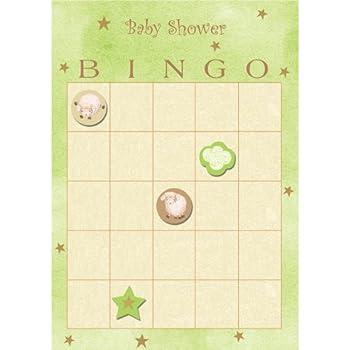 Creative Converting Baby Shower Ba Ba Baby 10 Count Bingo Game