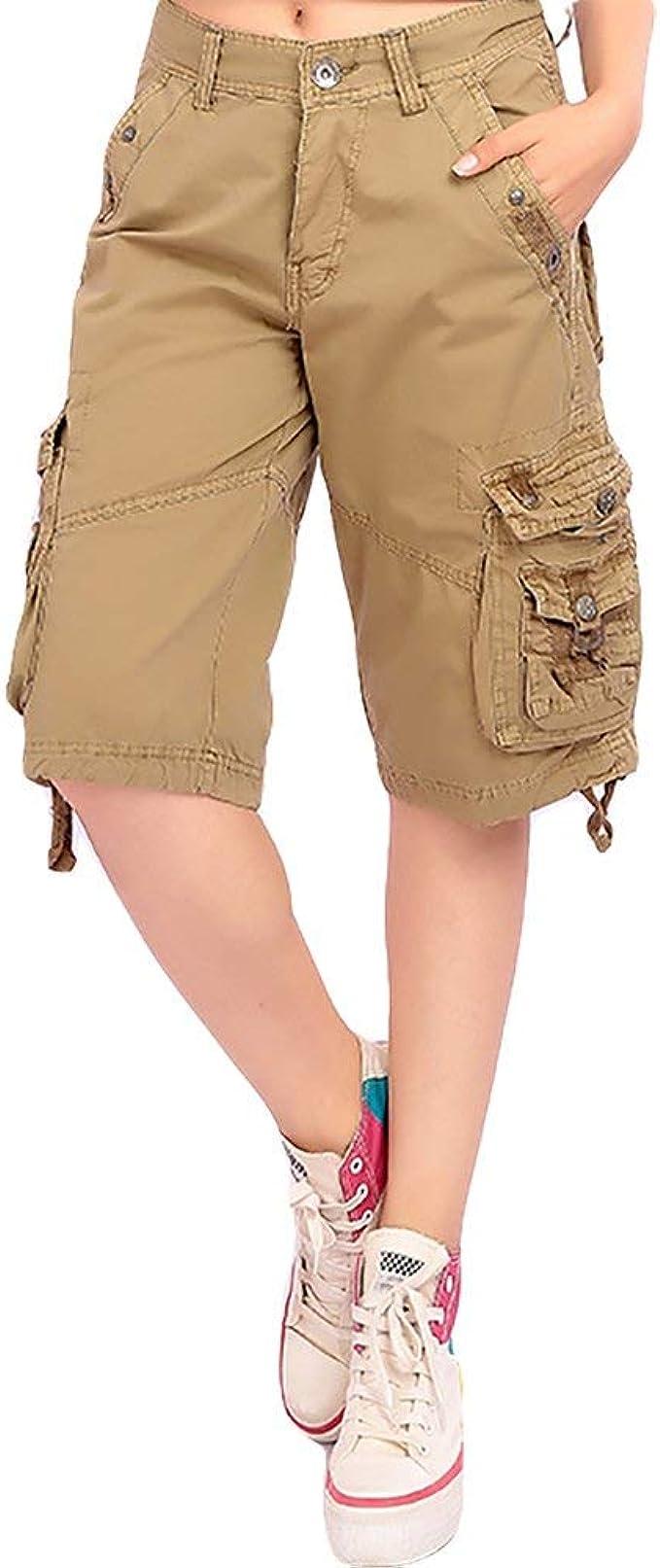 BOLAWOO-77 Pantalones Cortos Deportivos para Mujer Bermudas ...