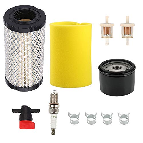 Wellsking 793569 793685 Air Filter for Briggs & Stratton Intek Series 20-21 Gross HP John Deere GY21055 MIU11511 Rotary 12673 Lawn Mower Tractor with 696854 Oil Filter (Briggs And Stratton Intek 20 Hp Air Filter)
