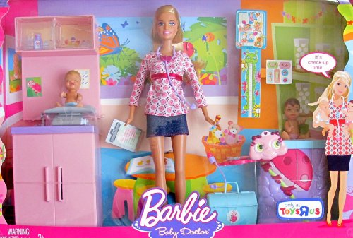 """BARBIE I Can Be .. BABY DOCTOR DOLL & PLAYSET w 2 BABY DOLLS, Barbie Doll & More! TOYS """"R"""" US EXCLUSIVE (2008)"""