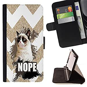 Pattern Queen - Chevron Grumpy Cat - FOR Samsung Galaxy Note 3 III - Hard Case Cover Shell