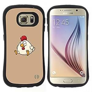 """Hypernova Slim Fit Dual Barniz Protector Caso Case Funda Para Samsung Galaxy S6 [La grasa de dibujos animados Divertido Divertido""""]"""