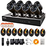 LaView 8 Camera 960H Security System, 16 Channel 960H DVR w/1TB HDD and 8 600TVL Black Bullet Camera Surveillance Kit