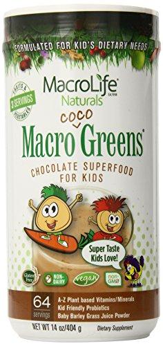 Macrolife Naturals младший Коко Зеленые 64 день канистра, 14.2 унций