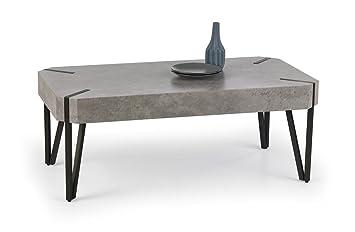 Sellon24 Emily Table Basse Rectangulaire Aspect Beton Gris Pierre