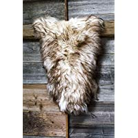 ESTRO | Genuine ICELANDIC Sheepskin Lambskin Rug | Lustrous and Luxurious | Colour Variety (44, Wolf Tip)