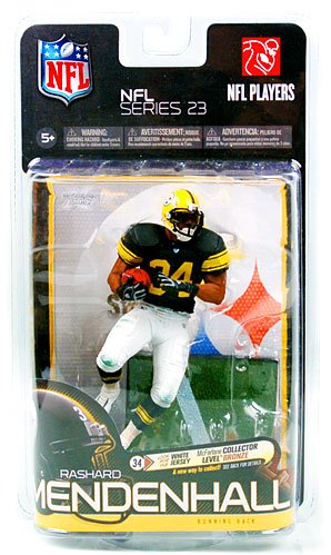 McFarlane Toys NFL Sports Picks Series 23 Exclusive Action Figure Rashard Mendenhall (Pittsburgh Steelers) Retro Jersey White Pants Mcfarlane Nfl Picks