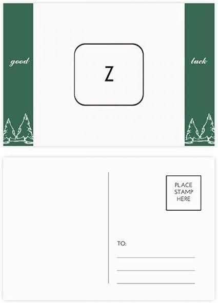 Teclado Símbolo Z Buena suerte Postal Set Tarjeta Mailing ...