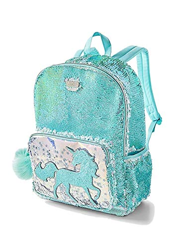 Justice Backpacks For Kids (Justice Girls Unicorn Backpack Reversible Sequin Full Size New)