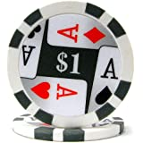 Trademark Poker Premium 4 Aces Poker Chips