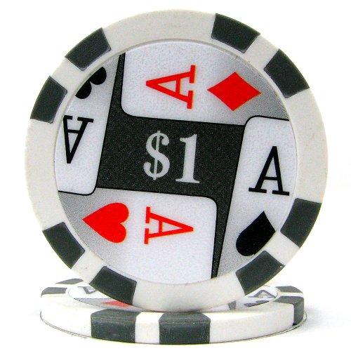 Trademark Poker Premium 4 Aces 100 Poker Chips (1-Piece), 11.5gm
