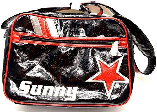 Funbag tasca, soleggiato con stella, 38,5cm, nero
