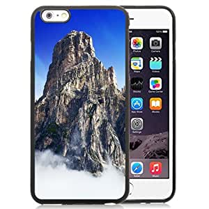 Fashionable Custom Designed iPhone 6 Plus 5.5 Inch Phone Case With Yosemite Park Mountain Top In Clouds_Black Phone Case