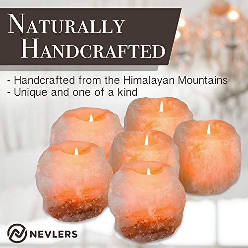 Natural Handcrafted Himalayan Salt Tealight Candle Holders