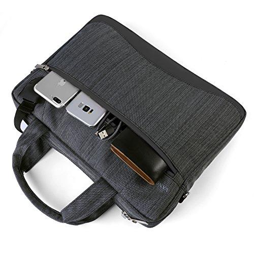 Womens Laptop Bag Shoulder Bag Tablet Sleeve Crossbody Bag Briefcase 11.6 to 13.3 for HP Envy 13 / ProBook / Pavilion 14 / Chromebook 14 / Stream 13 / Spectre / Pavilion / Stream 11 / Envy 14T schwarz
