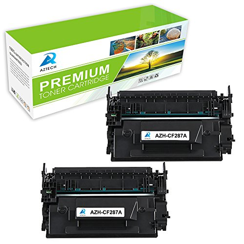 AZTECH 2 Pack 9,000 Page Yield Black Toner Cartridge Replaces HP 87A CF287A CF287 Used for Printers HP LaserJet M506 M506n M506x M506dn LaserJet MFP M527 M527dn M527z M527f LaserJet Pro M501n M501dn