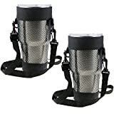 EEEKit 2 Packs Carry Bag for 30 OZ Tumbler, Yeti, Ozark Trail, RTIC, SIC, Member's Mark 30 ounce Tumbler, Cup Carrier Pouch, Adjustable Detachable Strap, Shoulder Sling