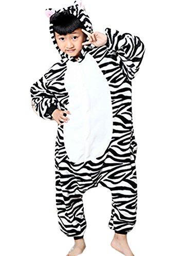 Halloween Kigurumi Bambini Unisex Cosplay Adulto Animato Cartone Simpatico Carnevale Di Zebra Pigiama Minetom Costume Flanella Anime Costumi 5BXxPfwBq
