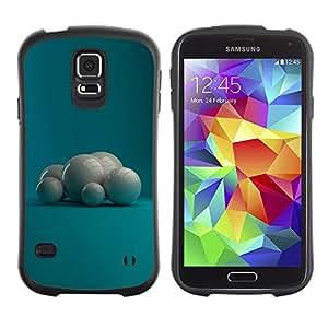 Suave TPU Caso Carcasa de Caucho Funda para Samsung Galaxy S5 SM-G900 / White Pearls / STRONG