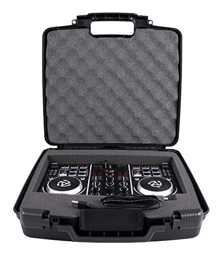CASEMATIX Protective DJ Controller Carry Case For Numark Party Mix Starter Mixer - Built in Travel Handle , Padded Foam , Hard Shell Exterior