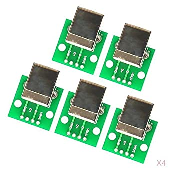 10 Pieces USB Type B Female Socket Breakout Board to DIP Printer Accessory