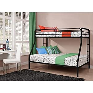 Twin Over Full Bunk Bed Metal Dorel Multiple Colors Space-Saving Design Durable Steel Frame Construction