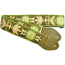Souldier GS0210OD02OL Custom USA Handmade Daisy Acoustic Guitar Strap - Olive Brown