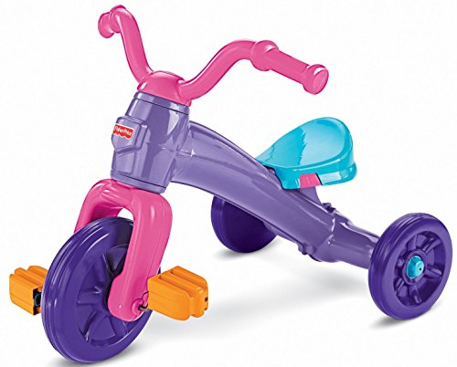 Fisher Price Grow With Me Trike- children's Tricycle- Fun and Adventure- Wide Wheel Base for Stability- Slip-resistant Pedals- Easy-grip Handlebars