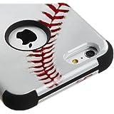 iPhone 6S 6 Plus 5.5 Inch Case - Wydan (TM) TUFF Impact Hybrid Hard Gel Shockproof Case Cover For Apple iPhone 6 Plus 5.5 Inch - Baseball