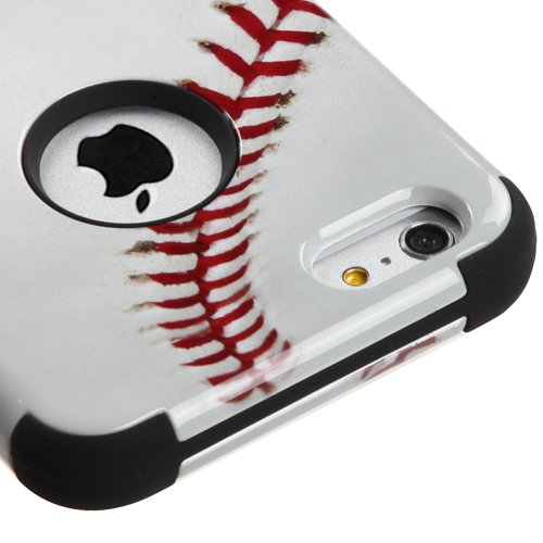 Mlb 6 Button (iPhone 6S 6 Plus 5.5 Inch Case - Wydan (TM) TUFF Impact Hybrid Hard Gel Shockproof Case Cover For Apple iPhone 6 Plus 5.5 Inch - Baseball)