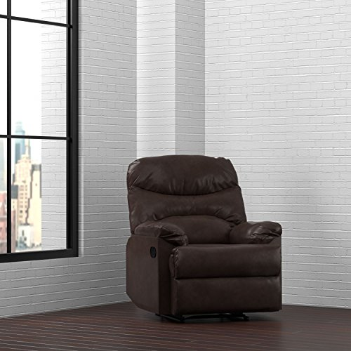 ProLounger Wall Hugger Recliner Chair in Coffee Brown (Renu Leather Coffee)