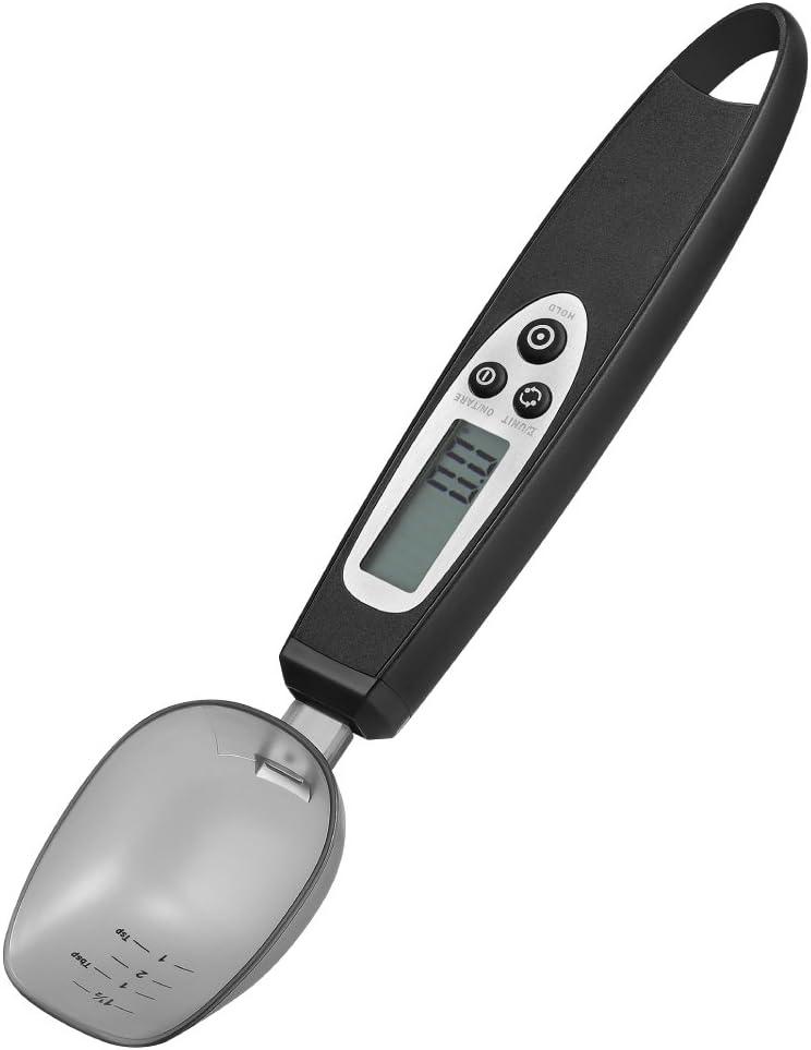 Jerrybox Cuchara Báscula, Báscula de Cocina, Cuchara Digital, Medidora Electrónica con Precisión de 0.1g