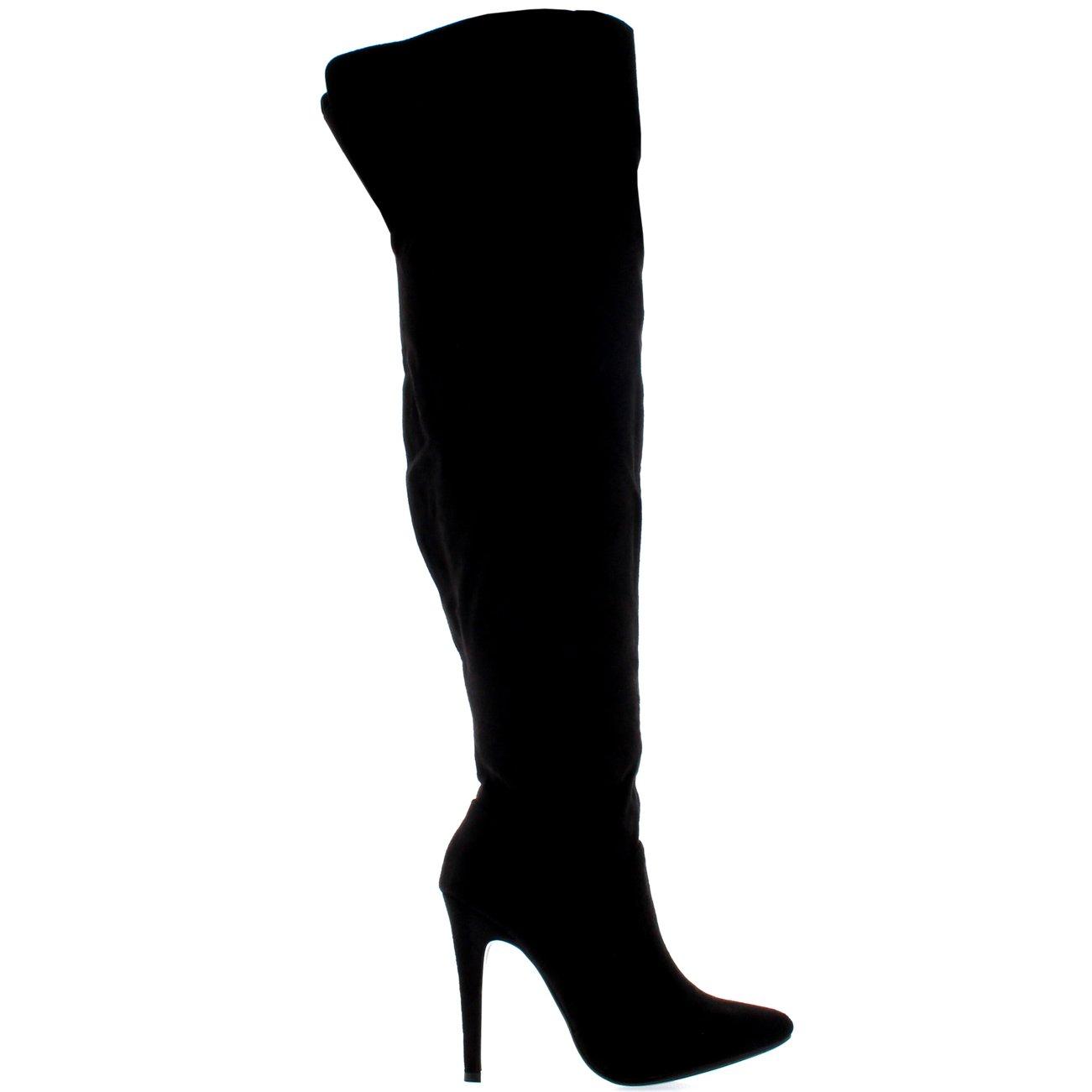 2ce8799180b Viva Womens Thigh High Platform Stretch High Heels Evening High Heels Boots