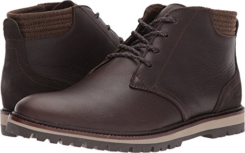 Leather Boat Chukka (Lacoste Men's Montbard Chukka 417 1 Ankle Boot, Dark Brown, 8.5 M US)