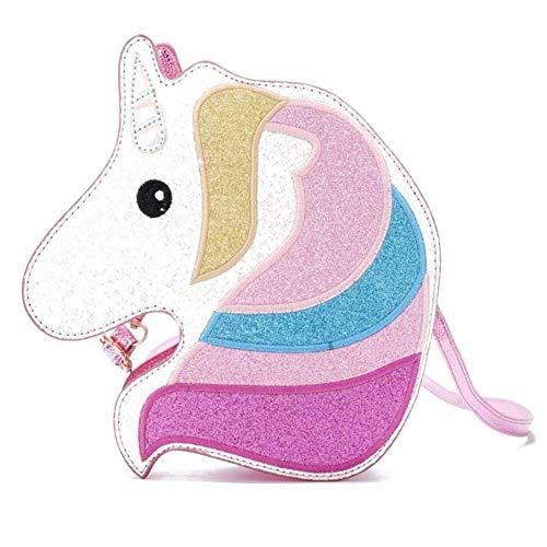 (Holographic Unicorn Purse Crossbody Bag for Teens Girls Women Novelty Glitter Handbag)