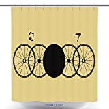 Cool Shower Curtains Unreal Stylized Bicycles For Background Postcard Calendar Booklet Label 306403940 Polyester Bathroom Shower Curtain Set With Hooks