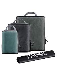 BAGAIL Juego de 3 Cubos de Embalaje de compresión para Viajes, organizadores de Embalaje Extensibles con Bolsa de lavandería