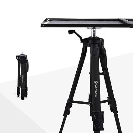 VANKYO Soporte de Aluminio para proyector de trípode, Soporte Ajustable para portátil, Soporte multifunción