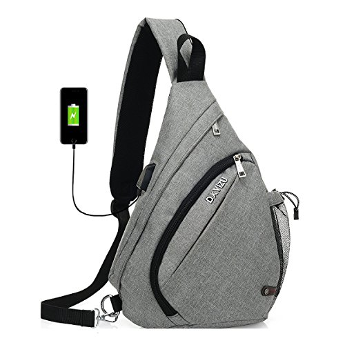 Fashion Cross Shoulder Backpack Bag - 2017 New Design Packable Sling Chest CrossBody Bag Cover Pack Rucksack for Bicycle Sport Hiking Travel Camping Bookbag Men Women (Elegant Gray)