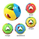 FOREAST 3 Pcs Baby Rattle Ball Toys Colourful