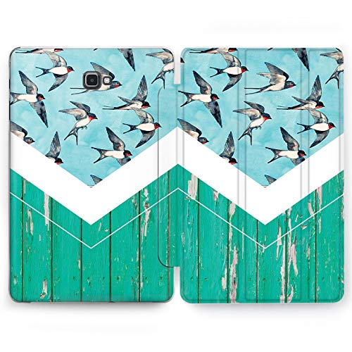 Wonder Wild Swallows Fly Samsung Galaxy Tab S4 S2 S3 A E Smart Stand Case 2015 2016 2017 2018 Tablet Cover 8 9.6 9.7 10 10.1 10.5 Inch Clear Design Animals Birds Sky Swifts Painted Fence Structural ()