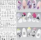 1 Sets Harajuku Elements Fantacy Flower Nail Art Stickers Water Transfer Nails Wrap Paint Tattoos Stamping Plates Templates Tools Tips Kits Exquisite Popular Stick Tool Vinyls Decals Kit, Type-02