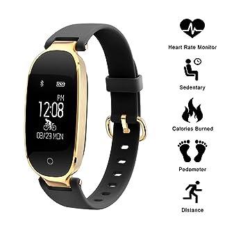 Winnes Reloj Mujer, Monitor de Actividad Pulsómetro y Podómetro ...