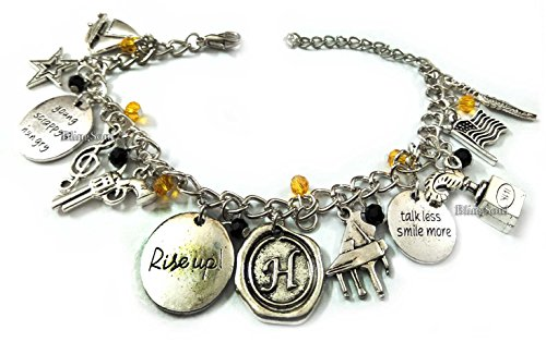 Musical Charm Stainless Steel Bracelet - Alexander Soundtrack Rise up Jewelry Gifts for Women -