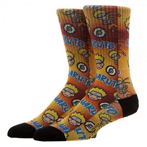 Naruto Merchandise - Naruto Shippuden Sublimated Crew Socks