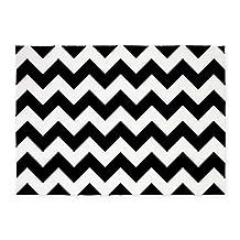 CafePress - Black And White Chevron 5'X7'area Rug - Decorative Area Rug, 5'x7' Throw Rug
