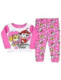Disney Size 5T Paw Patrol Skye and Marshall Heart Pink Cotton Pajama Set